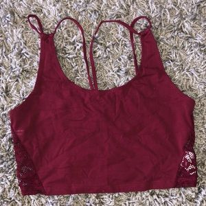 American Eagle Lace Back Crop Top